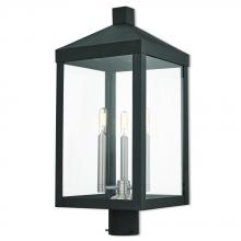 Livex Lighting 20586-04 - 3 Lt BK Outdoor Post Top Lantern
