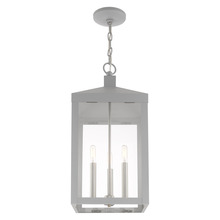 Livex Lighting 20587-80 - 3 Lt Nordic Gray Outdoor Pendant Lantern