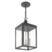 Livex Lighting 20593-76 - 3 Lt Scandinavian Gray Outdoor Pendant Lantern
