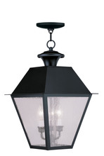 Livex Lighting 2170-04 - 3 Light Black Outdoor Chain Lantern