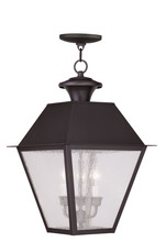 Livex Lighting 2170-07 - 3 Light Bronze Outdoor Chain Lantern