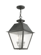 Livex Lighting 2170-61 - 3 Light Charcoal Outdoor Chain Lantern