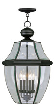 Livex Lighting 2357-04 - 4 Light Black Outdoor Chain Lantern