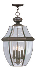 Livex Lighting 2357-07 - 4 Light Bronze Outdoor Chain Lantern