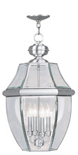 Livex Lighting 2357-91 - 4 Light BN Outdoor Chain Lantern