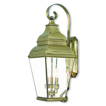 Livex Lighting 2593-01 - 3 Light AB Outdoor Wall Lantern