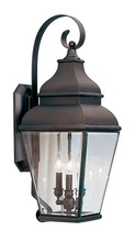 Livex Lighting 2593-07 - 3 Light Bronze Outdoor Wall Lantern