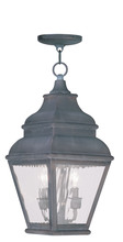 Livex Lighting 2604-61 - 2 Light Charcoal Outdoor Chain Lantern