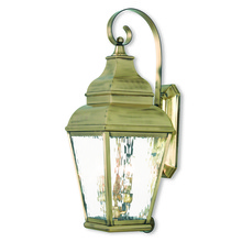 Livex Lighting 2605-01 - 3 Light AB Outdoor Wall Lantern