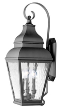 Livex Lighting 2605-04 - 3 Light Black Outdoor Wall Lantern