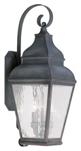 Livex Lighting 2605-61 - 3 Light Charcoal Outdoor Wall Lantern