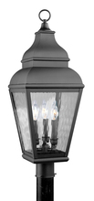 Livex Lighting 2606-04 - 3 Light Black Outdoor Post Lantern
