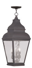Livex Lighting 2610-07 - 3 Light Charcoal Outdoor Chain Lantern