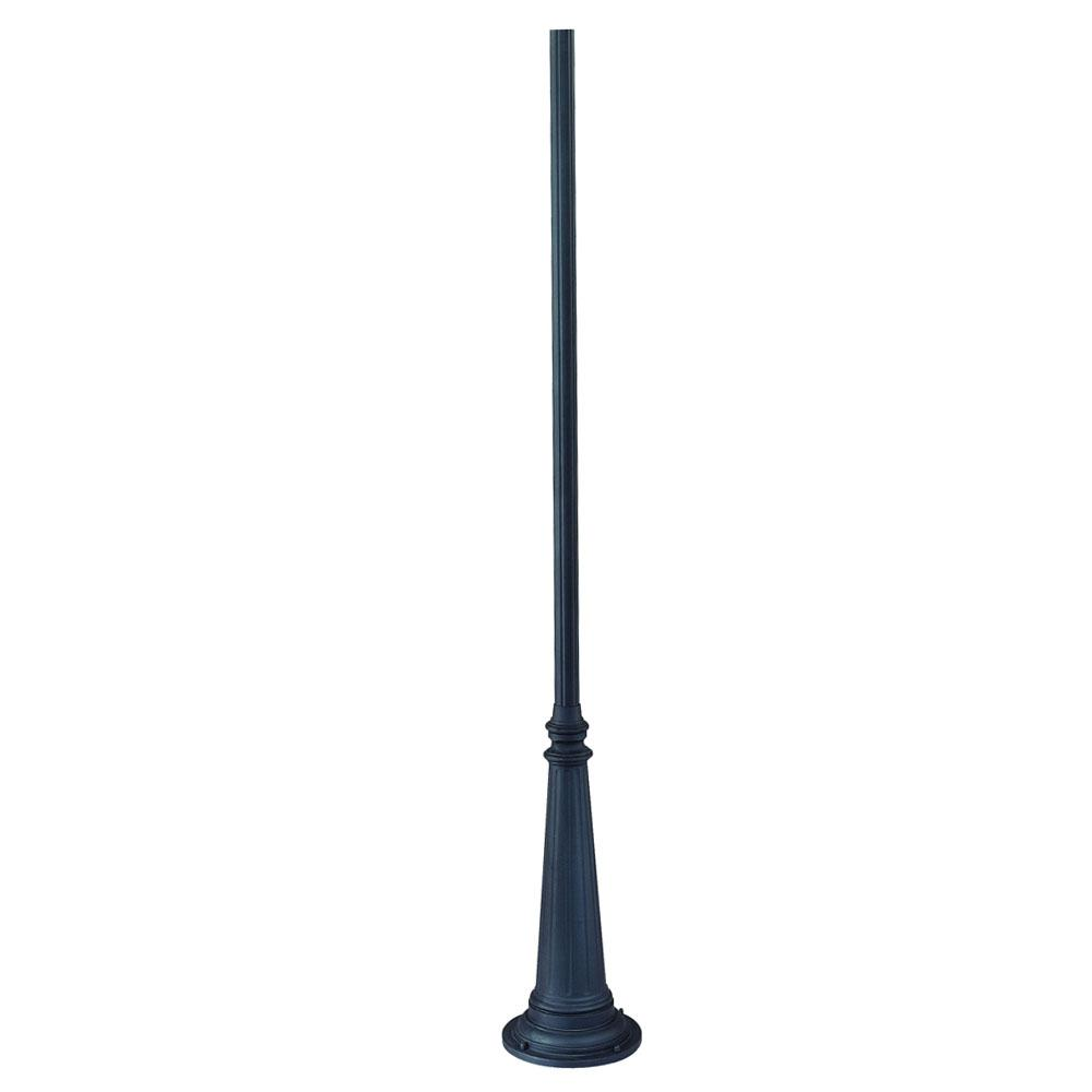 Surface mount posts collection 10 ft fluted outdoor matte black surface mount posts collection 10 ft fluted outdoor matte black light post mozeypictures Images