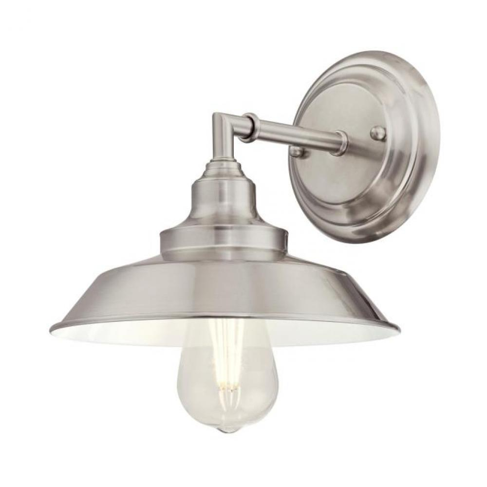 Westinghouse  6354200 Iron Hill One-Light Indoor Pendant Brushed Nickel Finish with Metal Shade Westinghouse Lighting