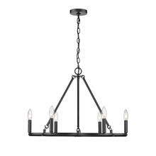 Golden 0526-6 BLK - Celta 6 Light Chandelier in Matte Black