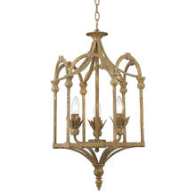 Golden 0821-3P BC - Medici 3-Light Pendant in Burnished Chestnut