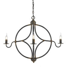 Golden 0830-4 ABI - Caspian 4-Light Chandelier in Antique Black Iron