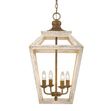Golden 0839-4P BC - Haiden 4-Light Pendant in Burnished Chestnut