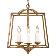 Golden 3072-3P GG - Athena 3 Light Pendant in Grecian Gold (Incandescent)