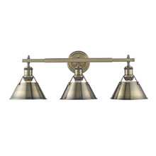 Golden 3306-BA3 AB-AB - 3 Light Bath Vanity