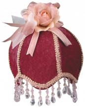 Royal Designs, Inc. NL-108 - Burgundy Velvet Designer Beaded Night Light